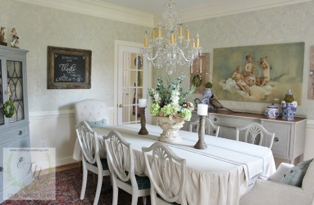 Dining Room Makeover- French-Old Things New-Treasure Hunt Thursday- From My Front Porch To Yours