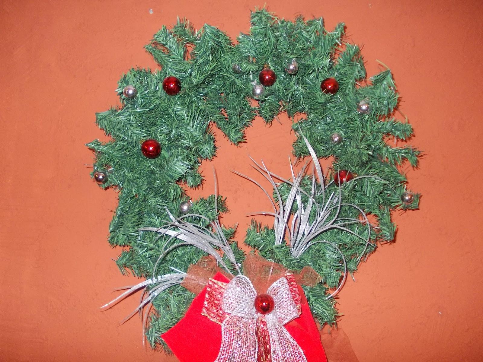 Adornos y regalos de navidad corona colgante adorno for Adornos para murallas
