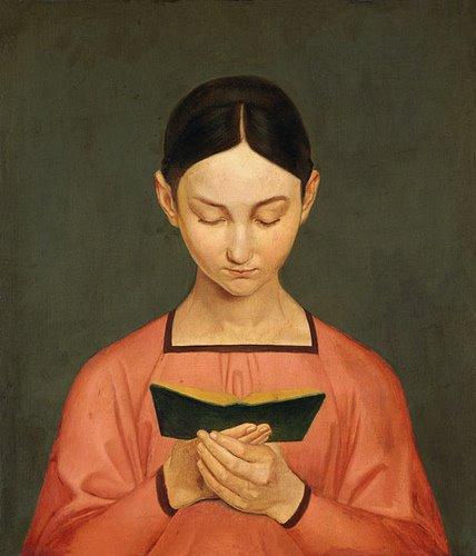 Gustav A. Hennig (1797-1869). Reading Girl