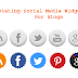 Ultimate Rotating Social Media Icons for Blogger Blogs