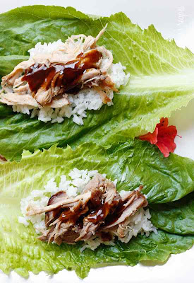 Slow Cooker Kahlua Pork Lettuce Wraps from Skinnytaste found on SlowCookerFromScratch.com