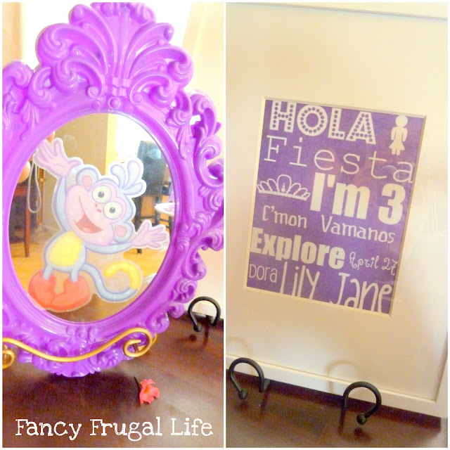 Dora Birthday Wall Decoration : Glam dora birthday party decorations