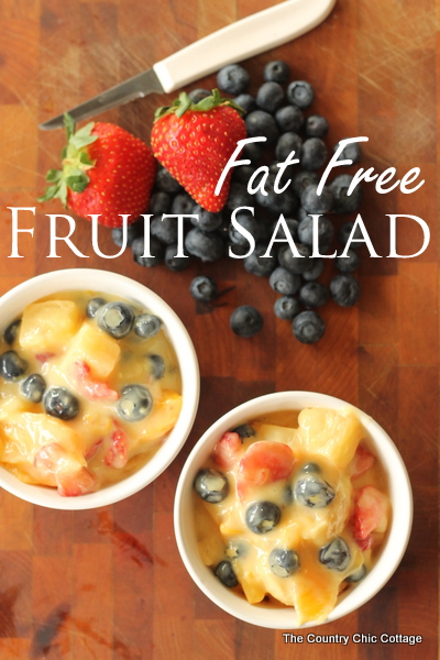 Fat Free Fruit Salad Recipe -- a yummy recipe that takes only minutes to make.