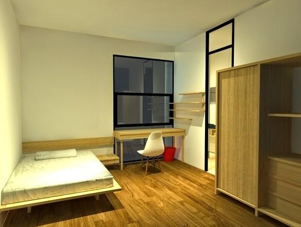 desain rumah minimalis desain warna cat kamar tidur kost