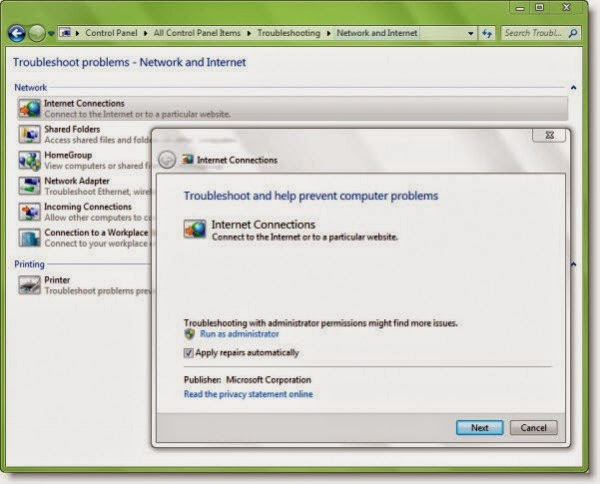 Fix: Network & Internet connection problems in Windows 7   8