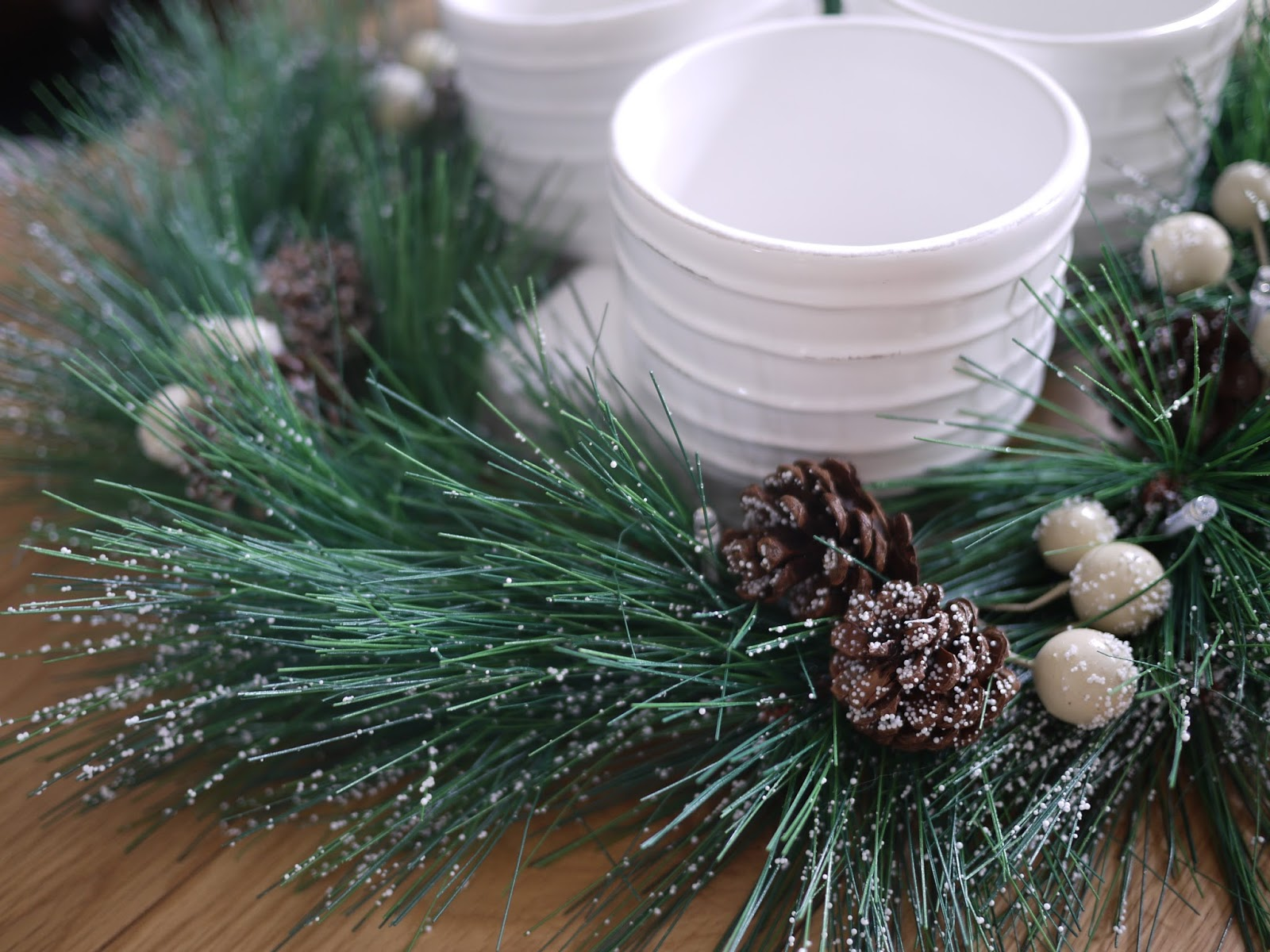 Table wreath from Dunelm Mill