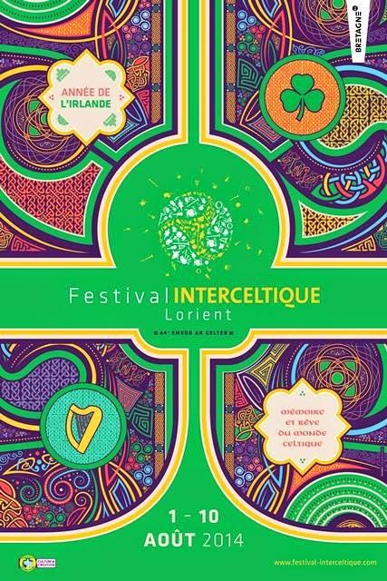 Affiche festival interceltique de Lorient 2014 - année de l'Irlande