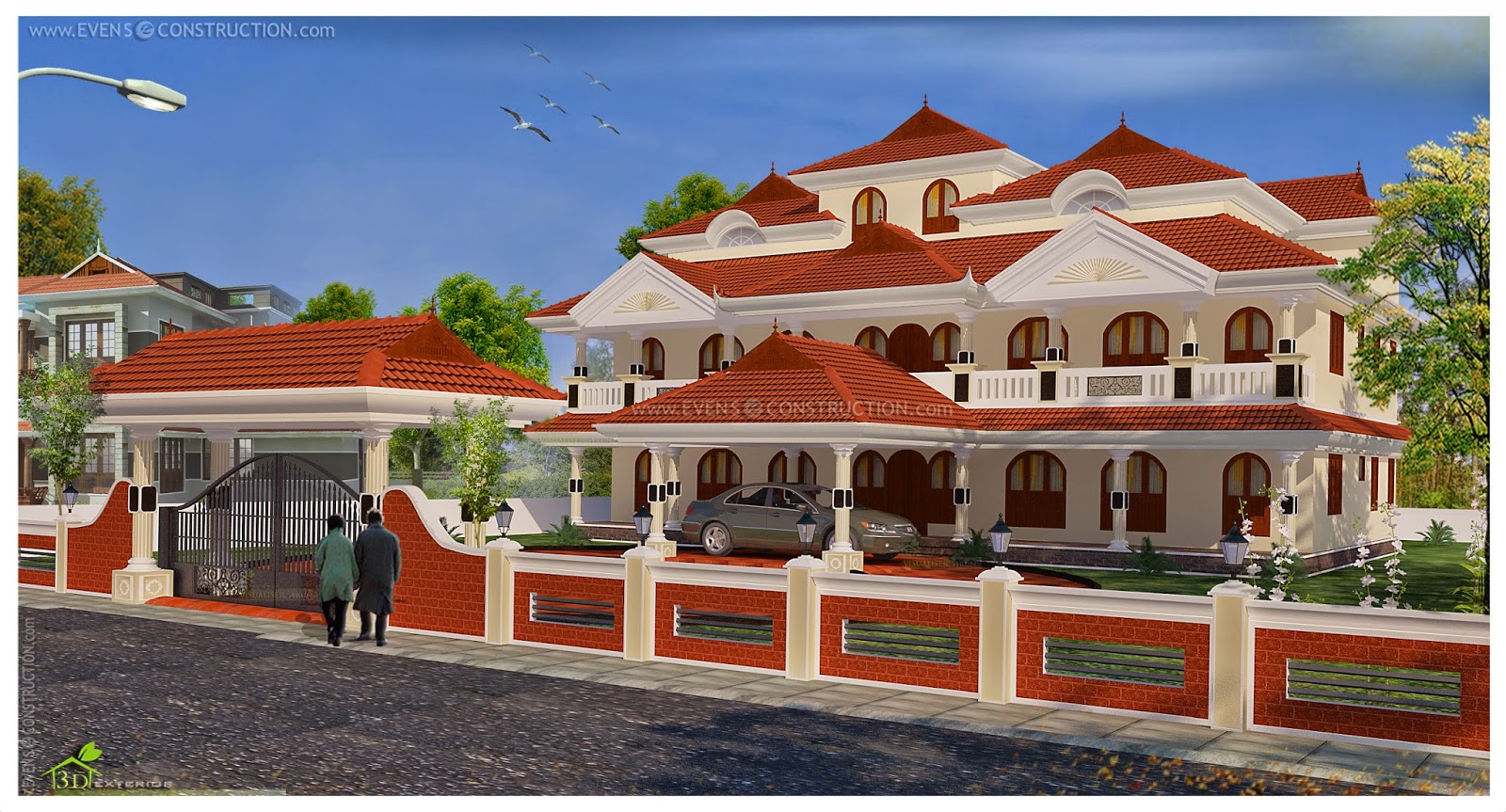 Evens construction pvt ltd big luxury home design for Big home designs