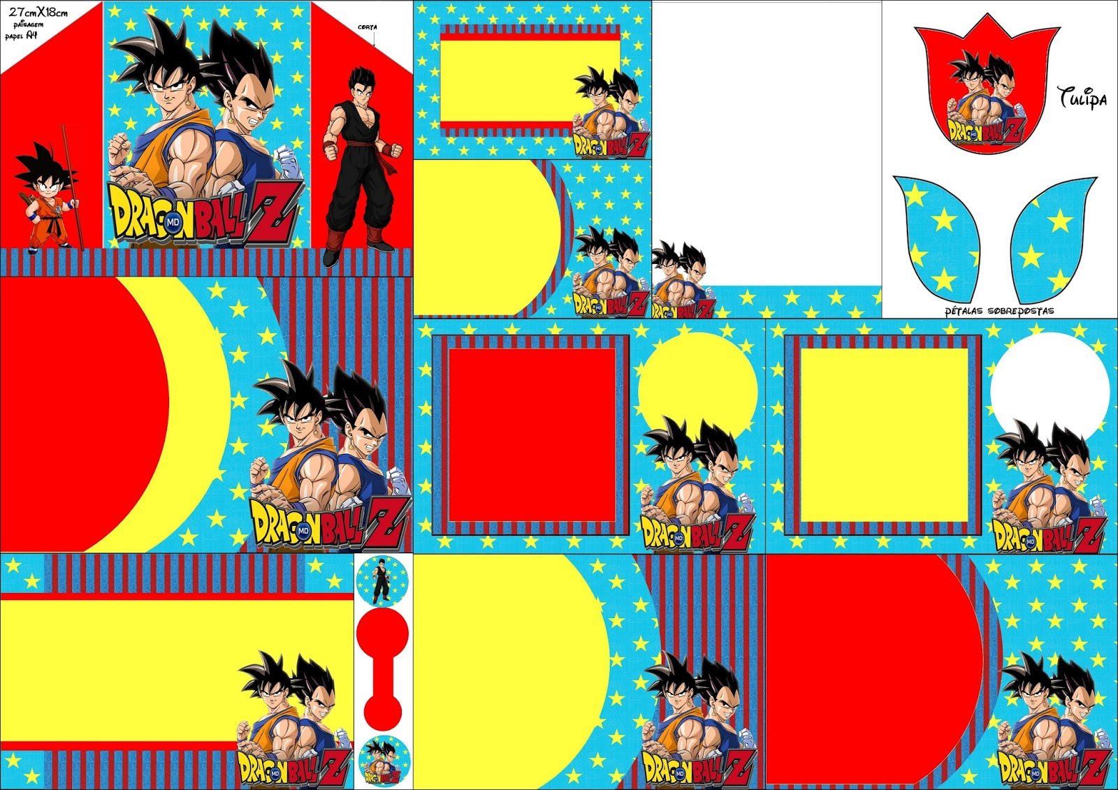 Dragon Ball Z: Free Printable Invitations. - Oh My Fiesta! for Geeks