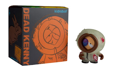 New York Comic-Con 2011 Exclusive Glow in the Dark Dead Kenny South Park Mini Figure by Kidrobot