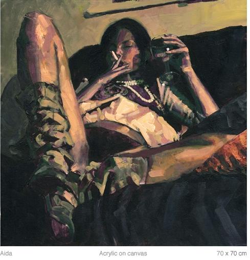 Doctor Ojiplático.Alberto Mielgo. Oil & Acrylics