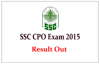 SSC – CPO 2015 Tier – I Result