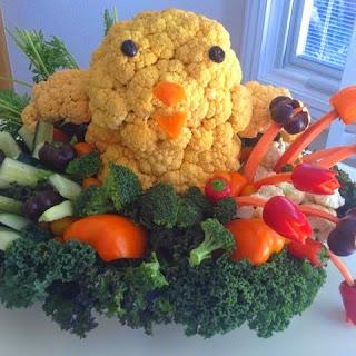 Veggie Easter Chick Platter