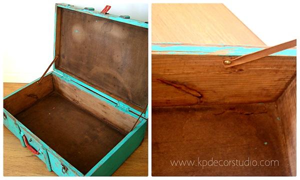 Maletas de madera antiguas y baúles vintage