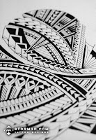 Pictures of Samoan tattoo drawings and sketches
