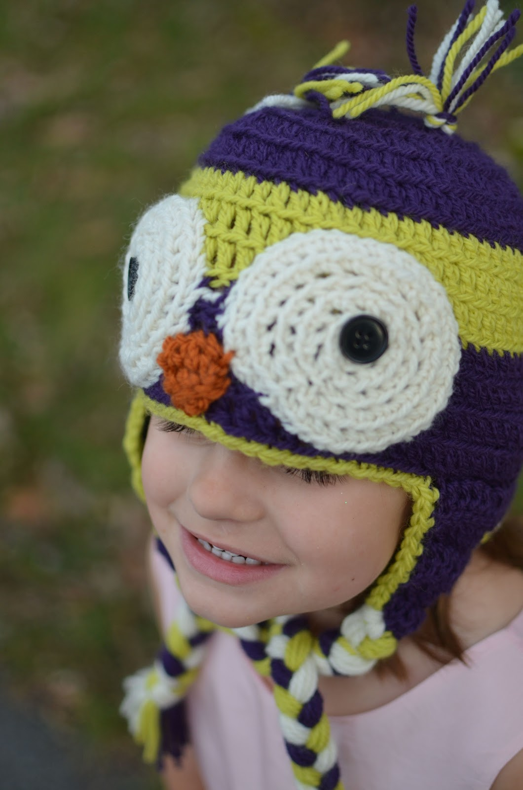 Crochet Chunky Owl Hat Pattern : One Stylish Momma: Crochet Owl Hat Pattern