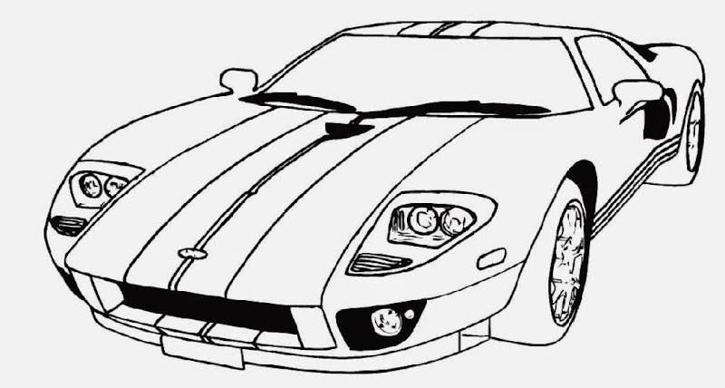 Classic car coloring pages free 8 image for Race car color page