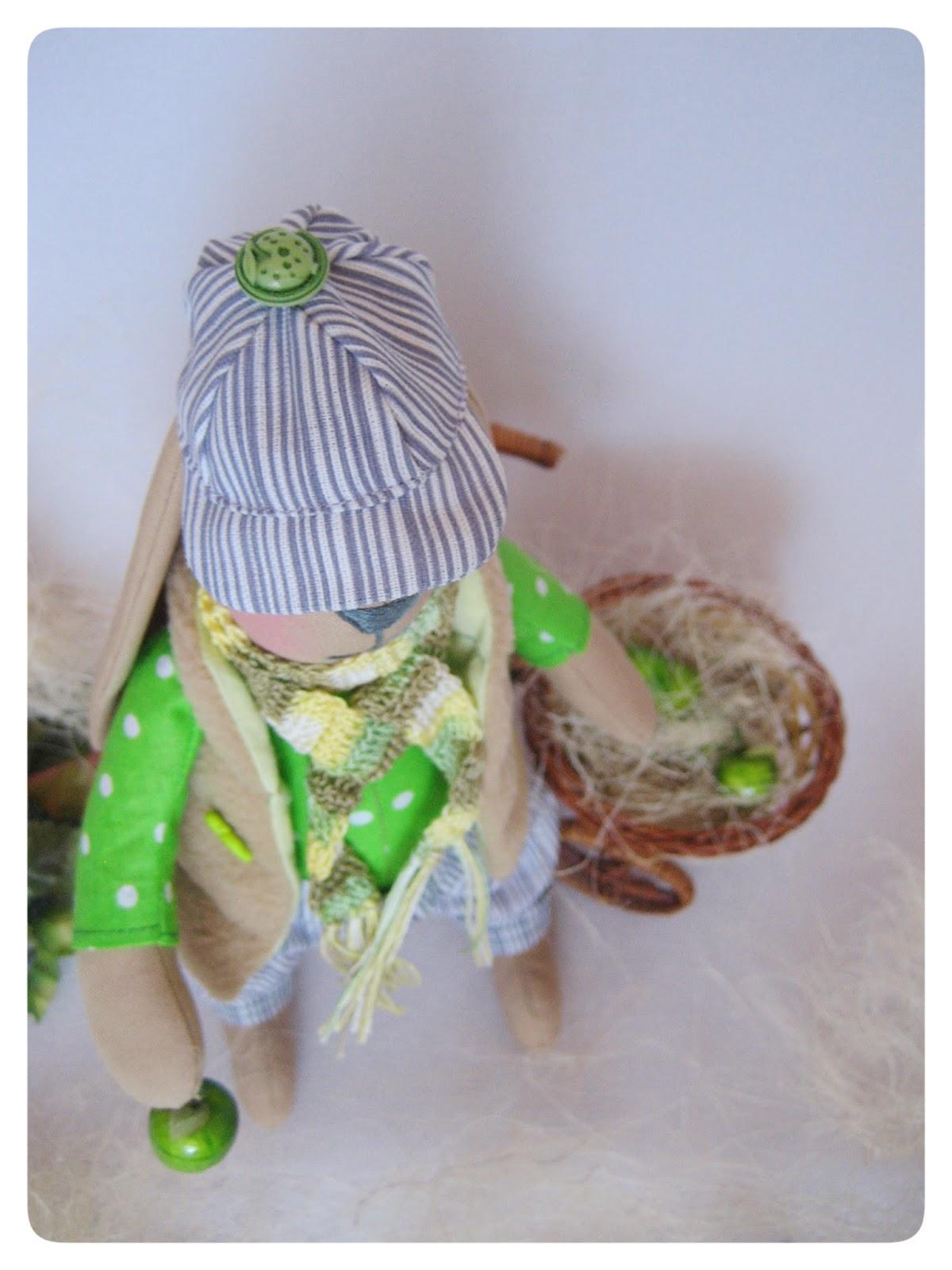 Тильдо-зайчик мальчик