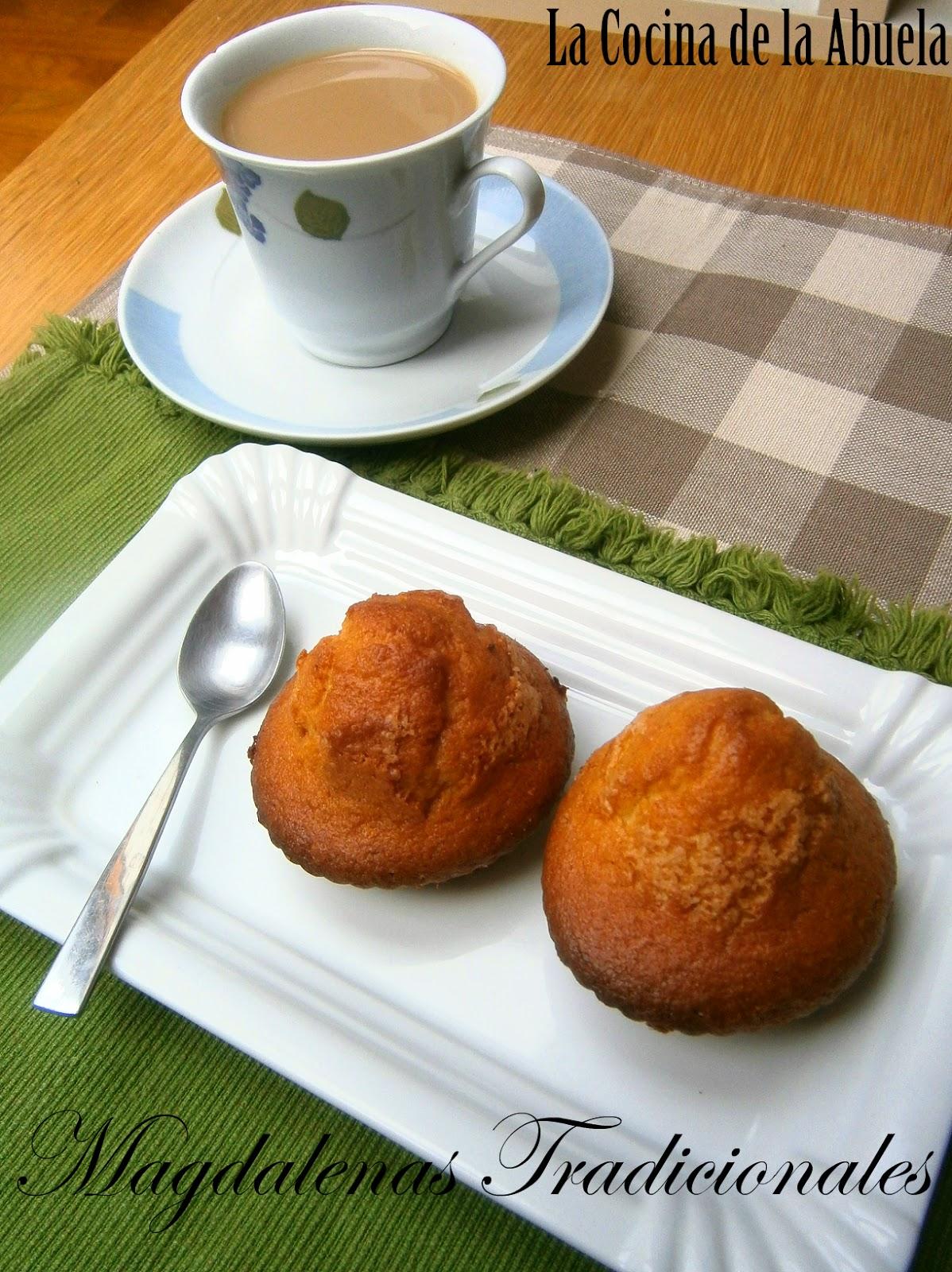 Magdalenas tradicionales la cocina de la abuela - Madalenas o magdalenas ...