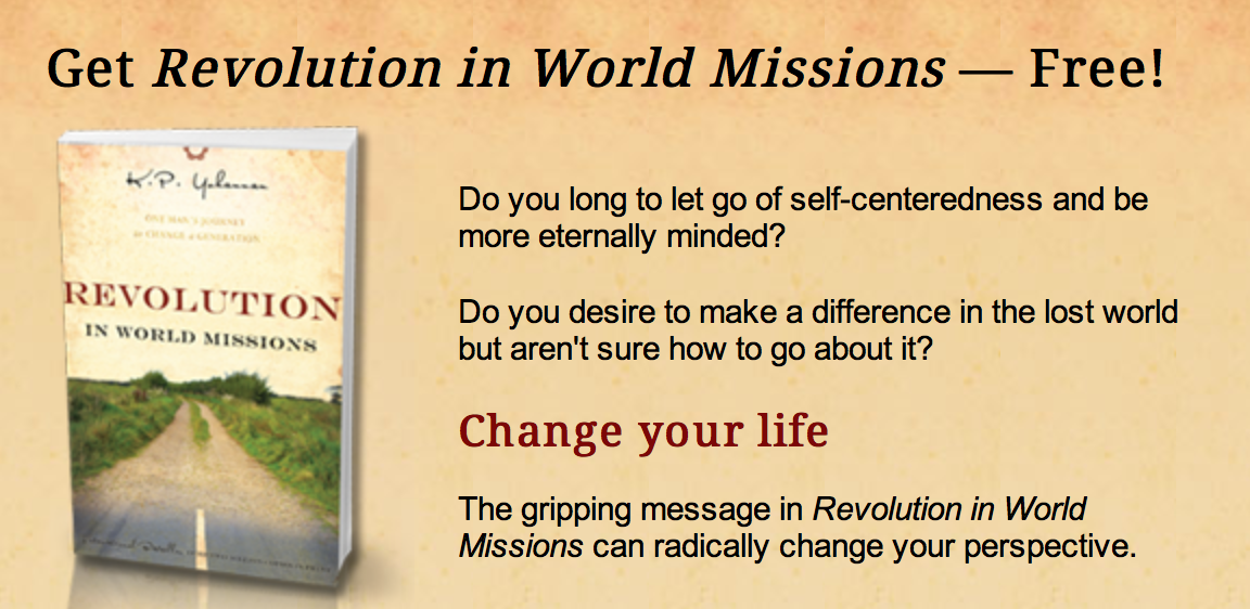 Revoltion in World Missions- Free Book and FRee shipping linked to website
