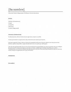 Cartas de presentación para buscar trabajo o empleo