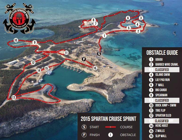 The Spartan Cruise 2015 - Bahamas Spartan Sprint Course Map