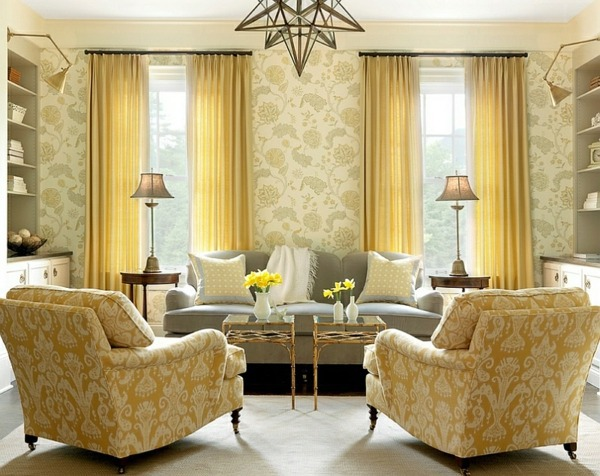 Choosing Gray and Yellow As the Living Room Color Scheme | Home ...