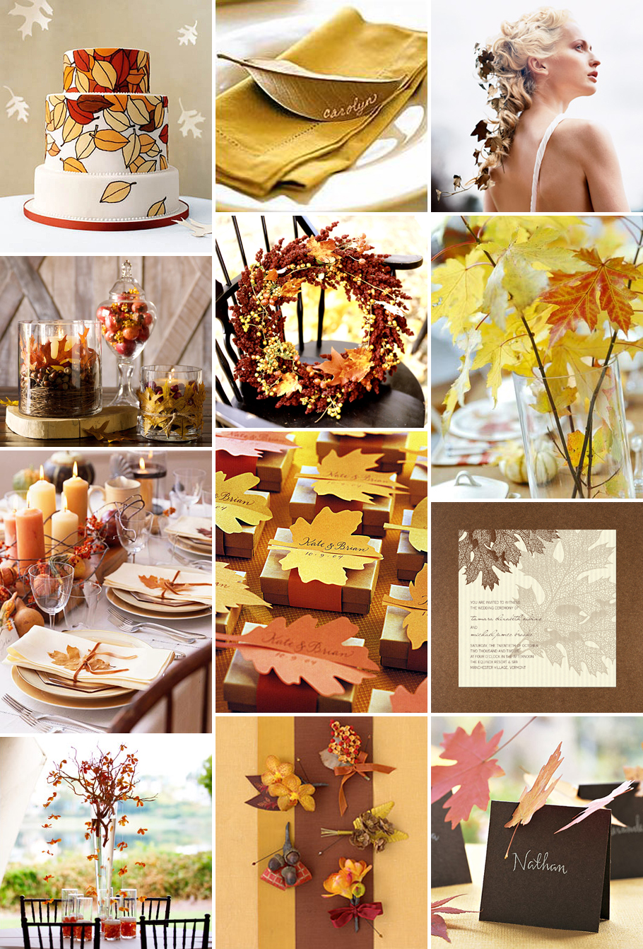 Autumn wedding ideas autumn weddings pics for Autumn wedding decoration