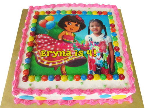 Birthday Cake with Edible Image Dora