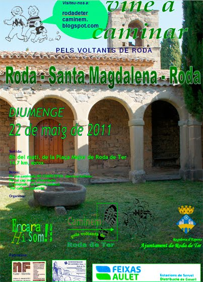 5a CAMINADA PELS VOLTANTS DE RODA: 22 de Maig de 2011