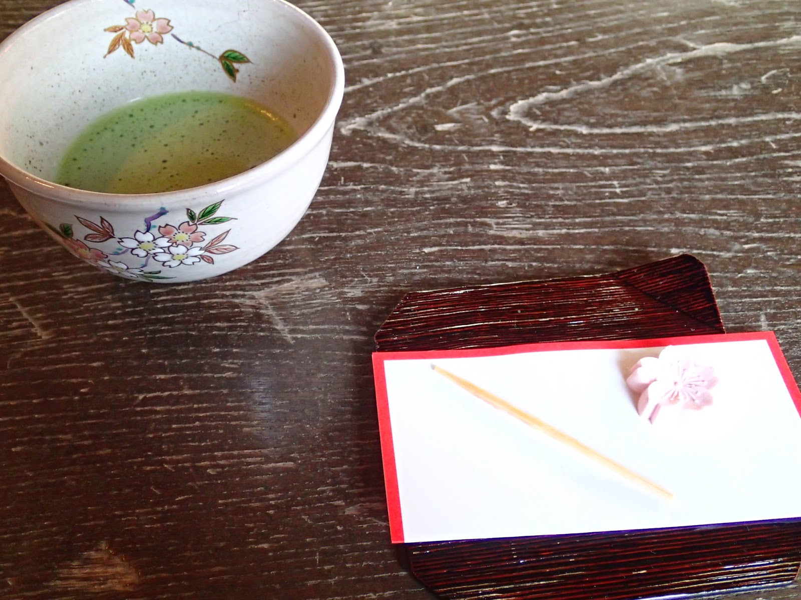 matcha green tea at a traditional japanese tea ceremony in tokyo