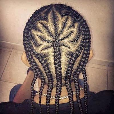 Trenzas y peinado con forma de marihuana