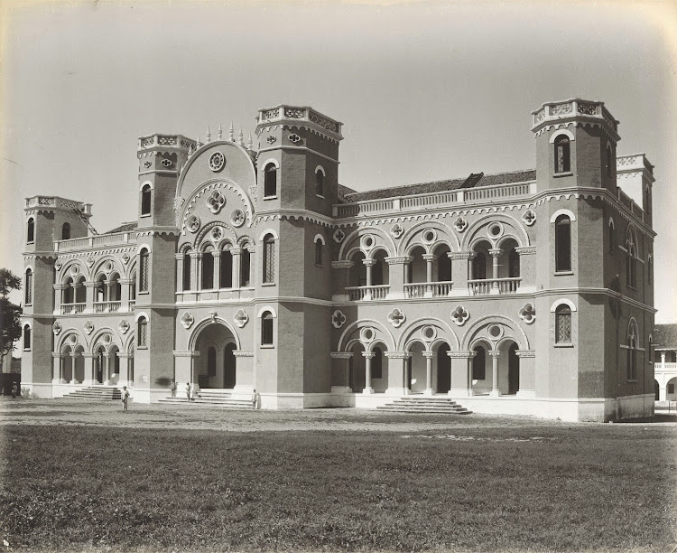 Bahadurkhanji High School at Junagadh, Gujarat - c1900's