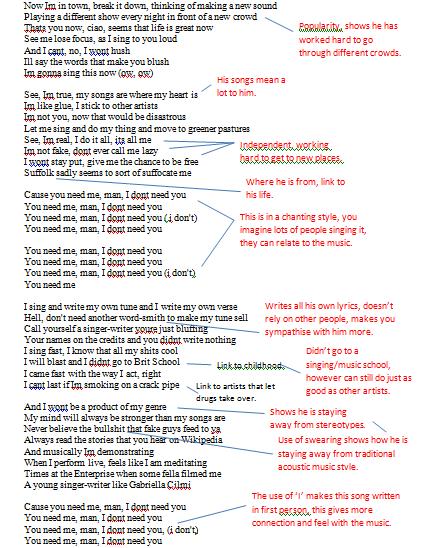 ed sheeran a team lyrics pdf
