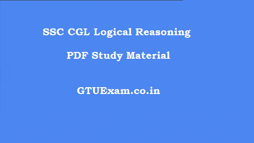 SSC CGL Logical Reasoning PDF Study Material
