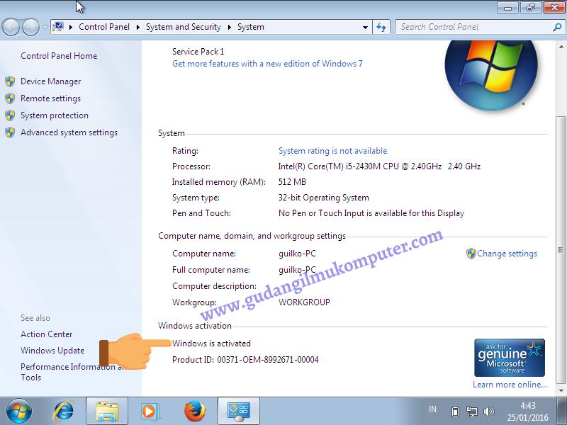 Langkah Langkah Aktivasi Windows 7 Betaxploit
