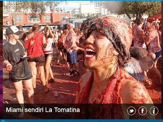 inovLy media : Miami sendiri La Tomatina