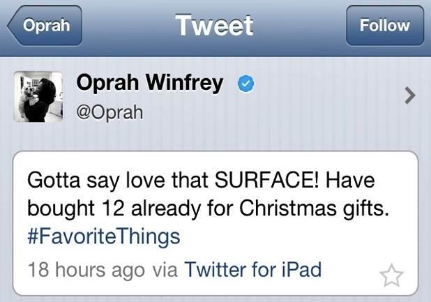 Mensagem de Oprah Winfrey sobre o iPad