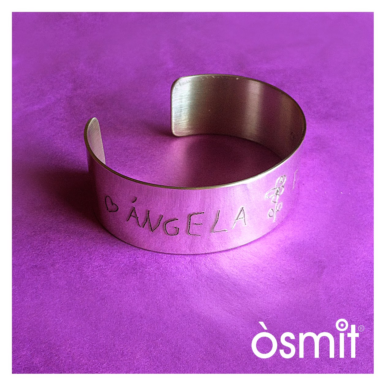 bracelet amb noms osmit joies alumini