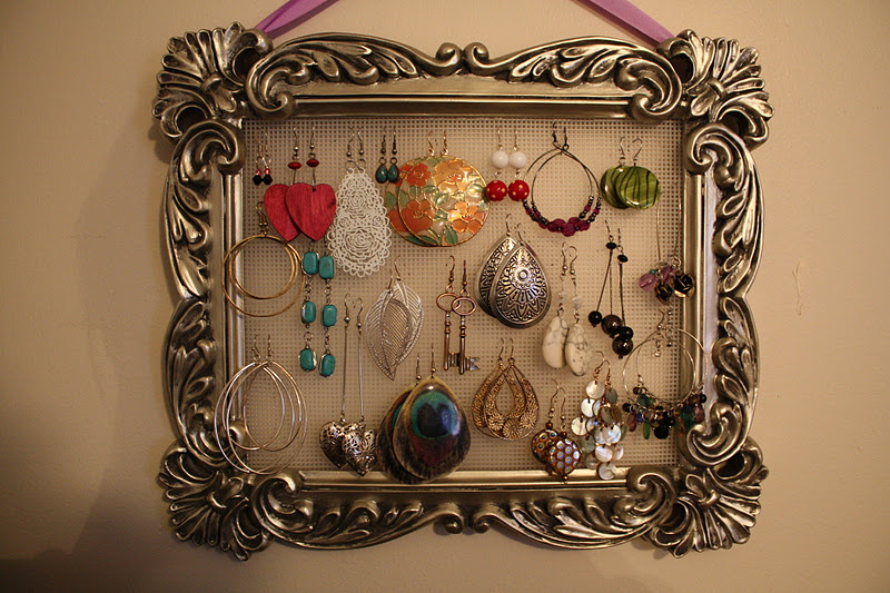 A tale of two feet homemade earring holder for Tj maxx jewelry box