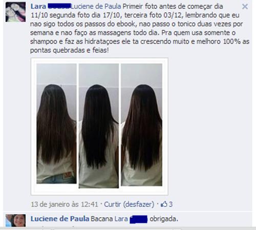 Fotos do cabelo da Lara