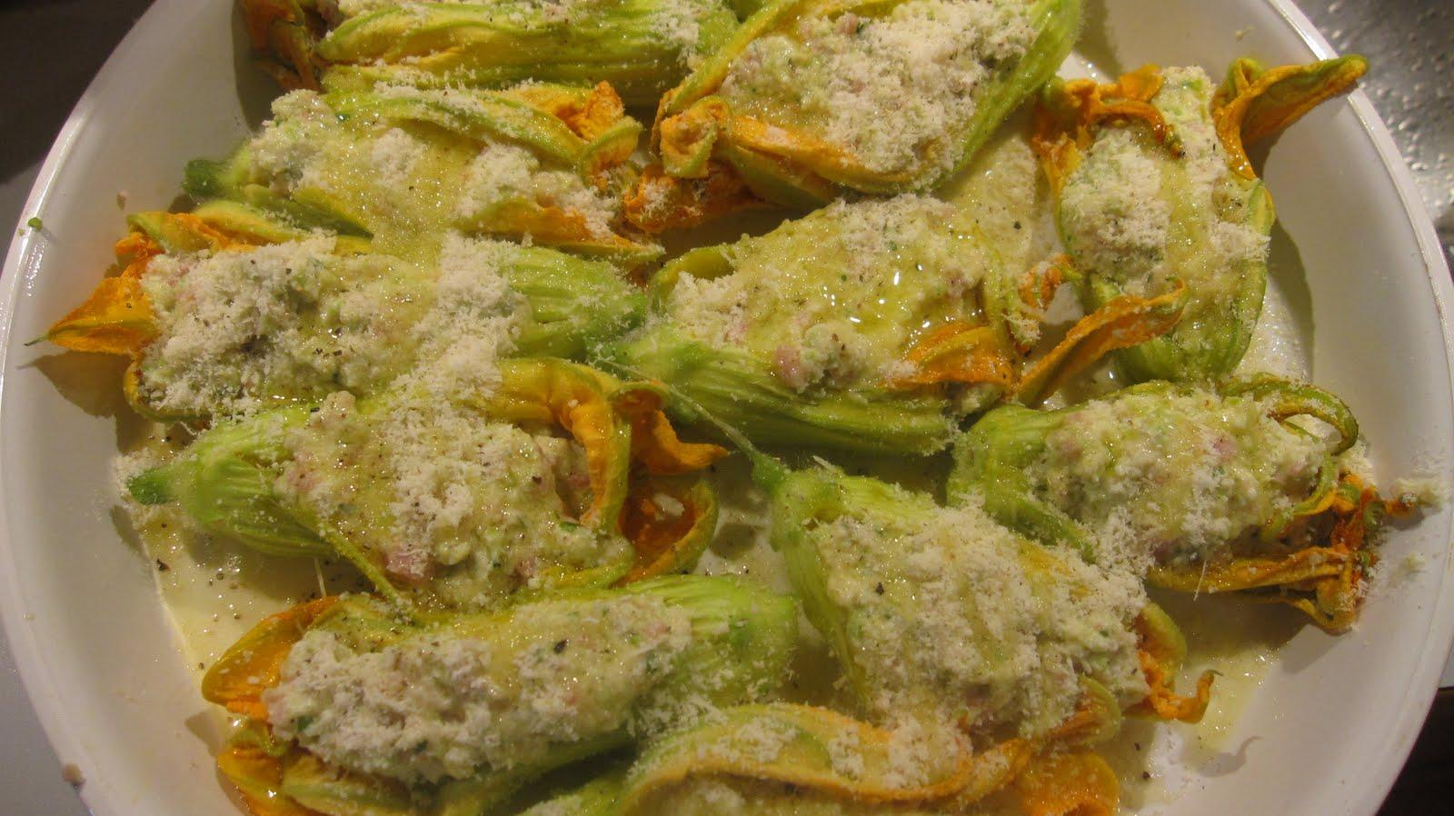Mignerd 39 iz fleurs de courgettes farcies v g tariennes au fromage frais de ch vre et basilic - Fleurs de courgettes farcies ...