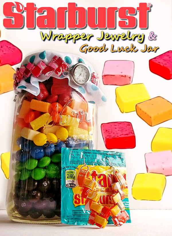 Spring Crafting Inspiration Candy Wrapper Jewelry #VIPFruitFlavors #Shop