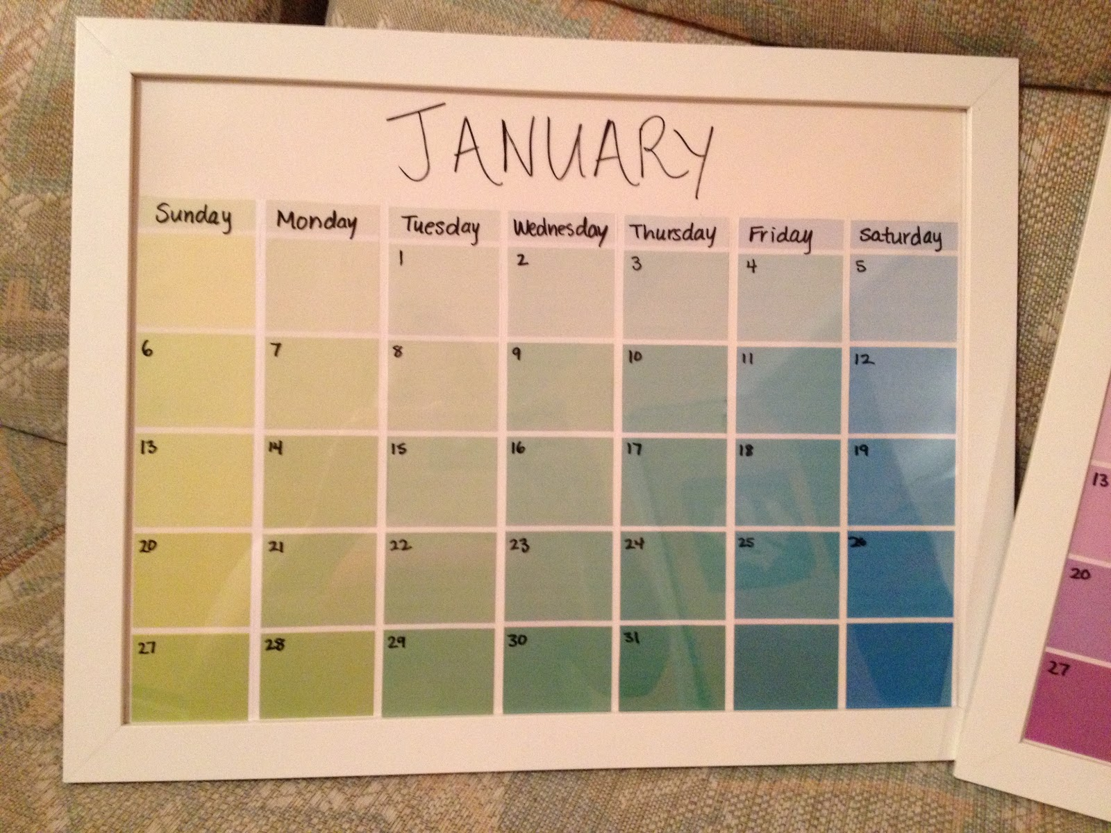 Diy Calendar With Paint Samples : Kimber s great adventure days of christmas day five