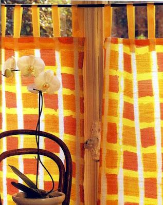 Como pintar una cortina para la cocina