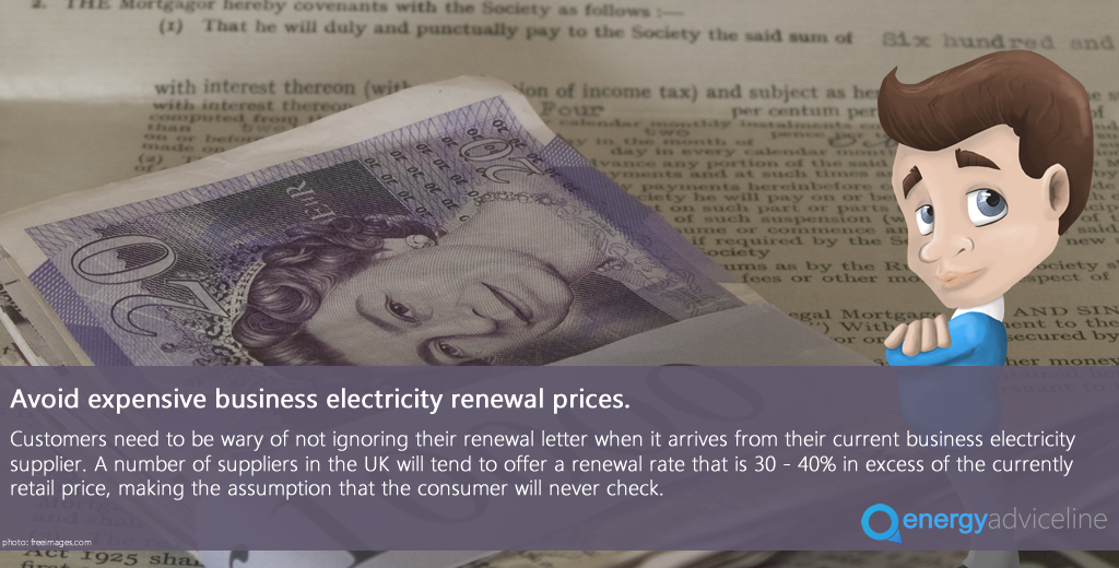 Avoid expensive business electricity renewal prices