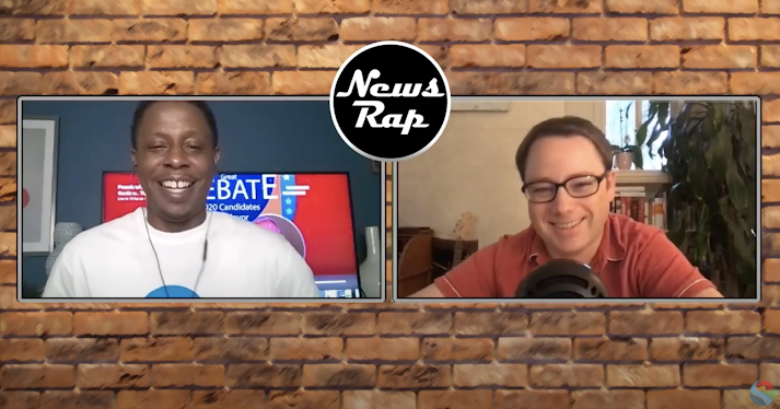 "Watch: Justin fills in as guest host on Pasadena Media's ""NewsRap"" show"