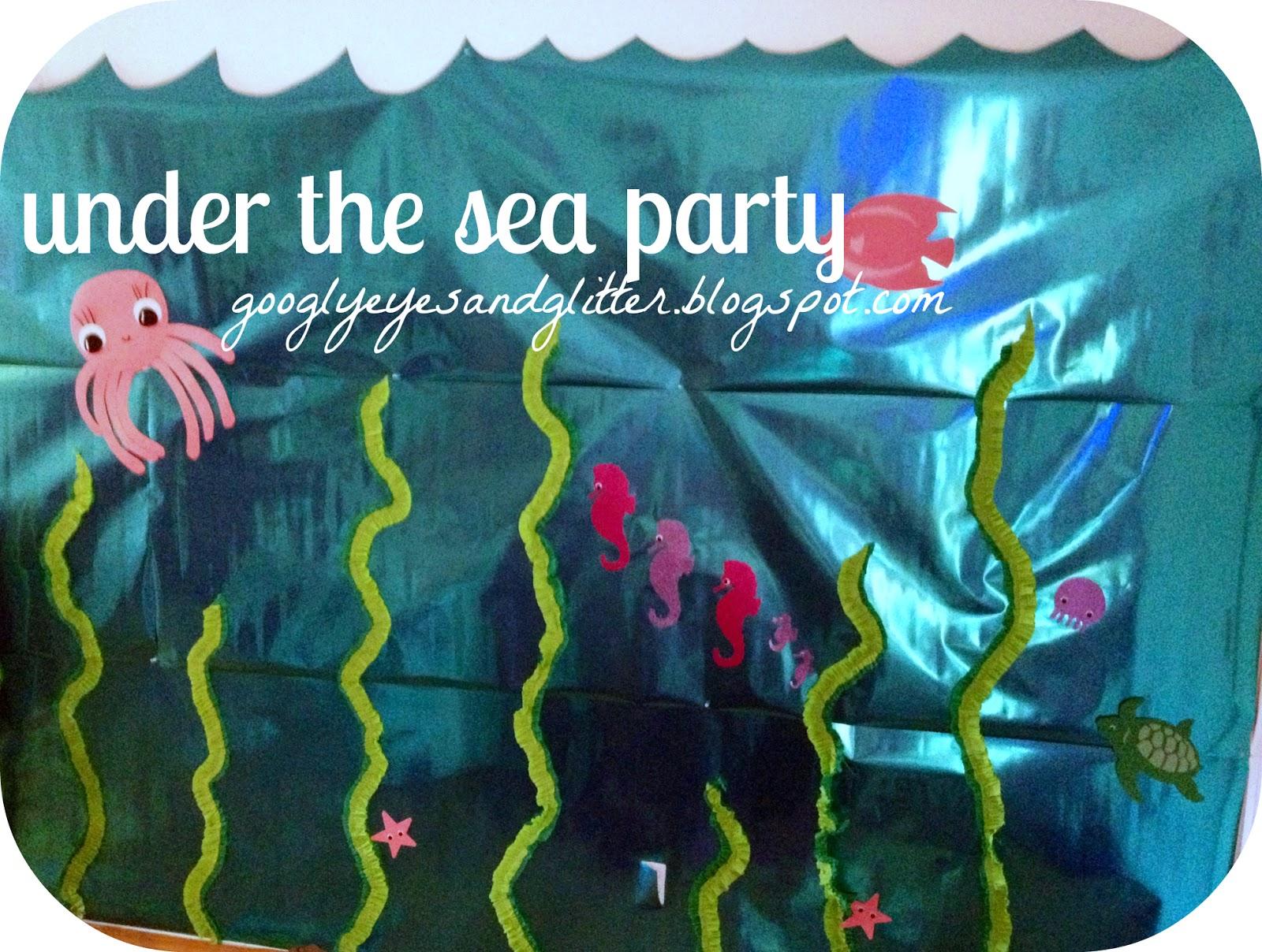 Googly eyes amp glitter under the sea mermaid themed birthday party