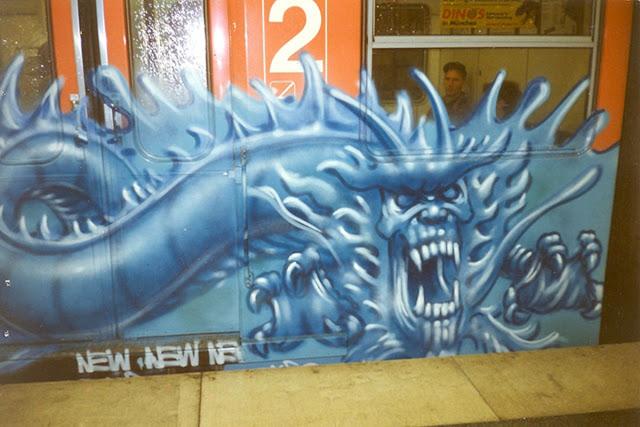 Blue Ice Graffiti Train