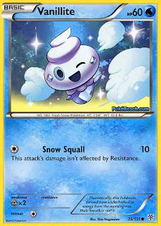 Vanillite Plasma Storm Pokemon Card